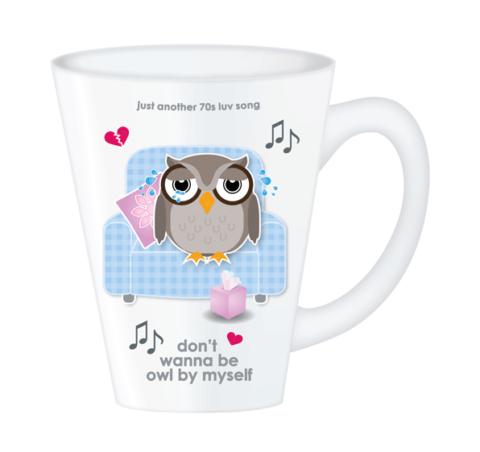 owl by myself mug
