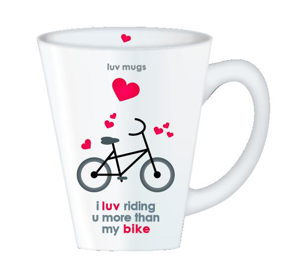 i luv riding mug