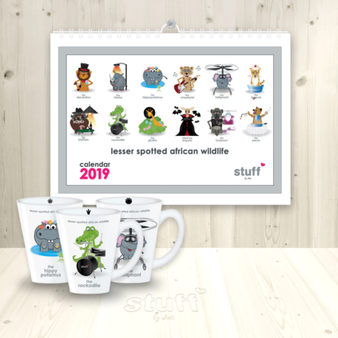 2019 lesser spotted wall calendar