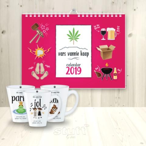 2019 vars vannie kaap wall calendar