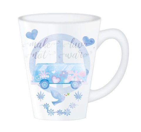 Hippy Mugs Luv Not War (Blue)