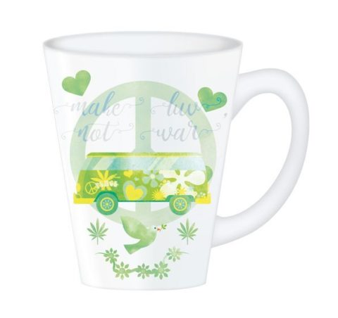 Hippy Mugs Luv Not War (Green)