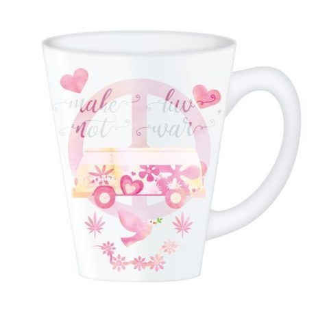 Hippy Mugs Luv Not War (Pink)