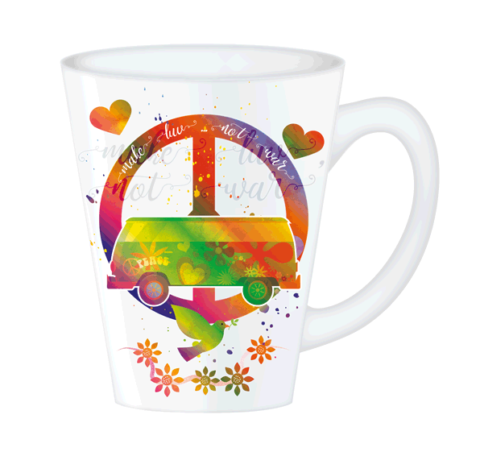 Hippy Mugs Luv Not War (Psychedelic)