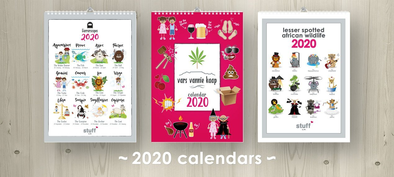 2020 wall calendars