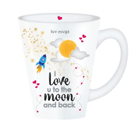 love u to the moon mug